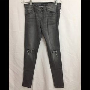 Flying Monkey Distressed Skinny Jeans Gray 28